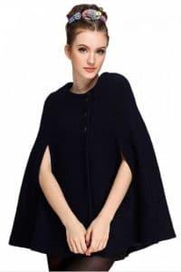 cape laine noire blend cape coat