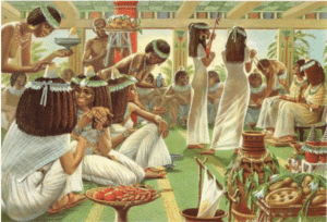 Robe de mariée égypte antique