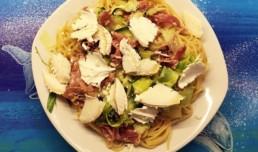 Spaghetti aux courgettes et chévre (1)