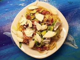 Spaghetti aux courgettes et chévre (2)