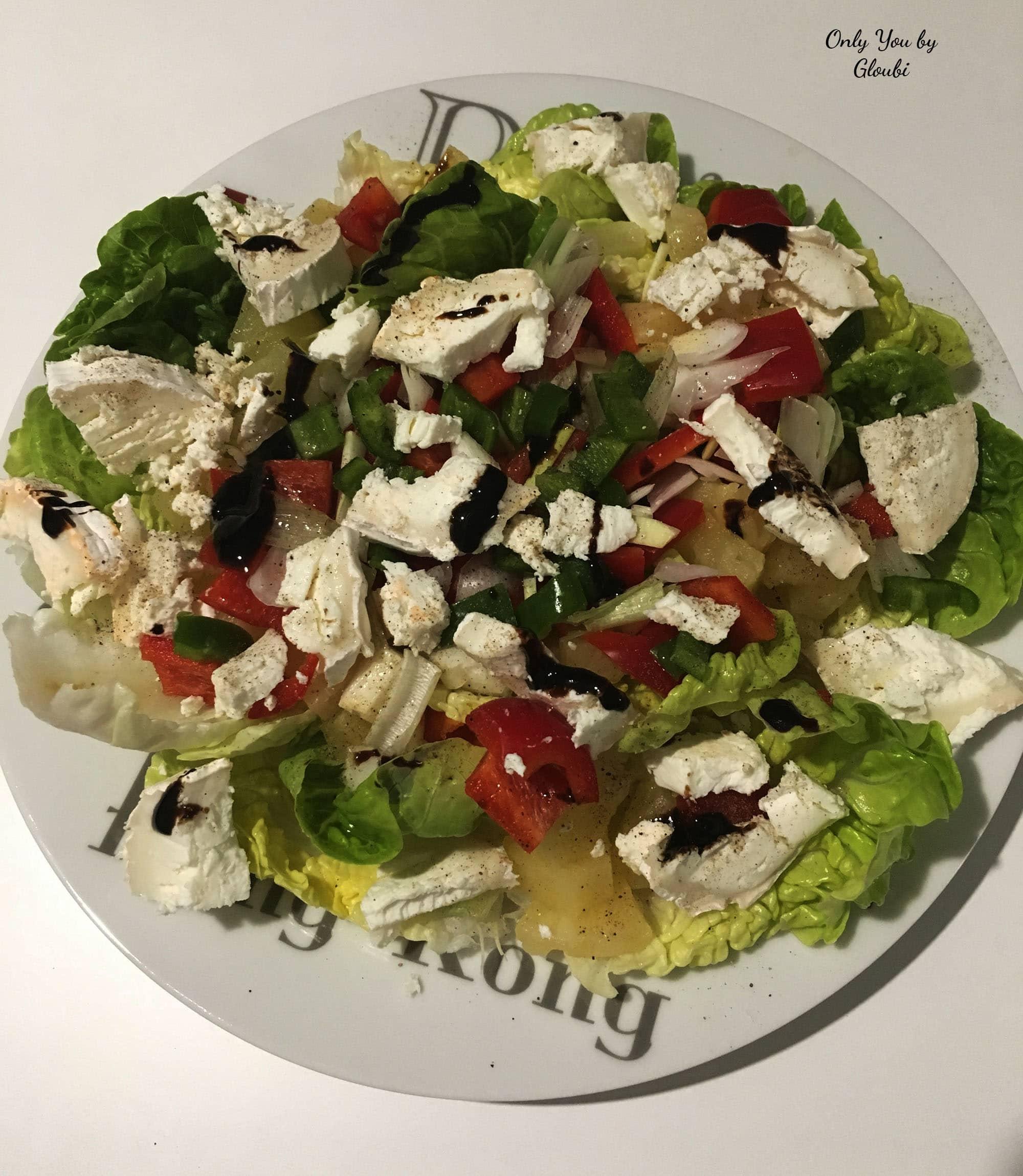Ma salade compos e sucr e sal e only you by gloubi for Plat convivial rapide