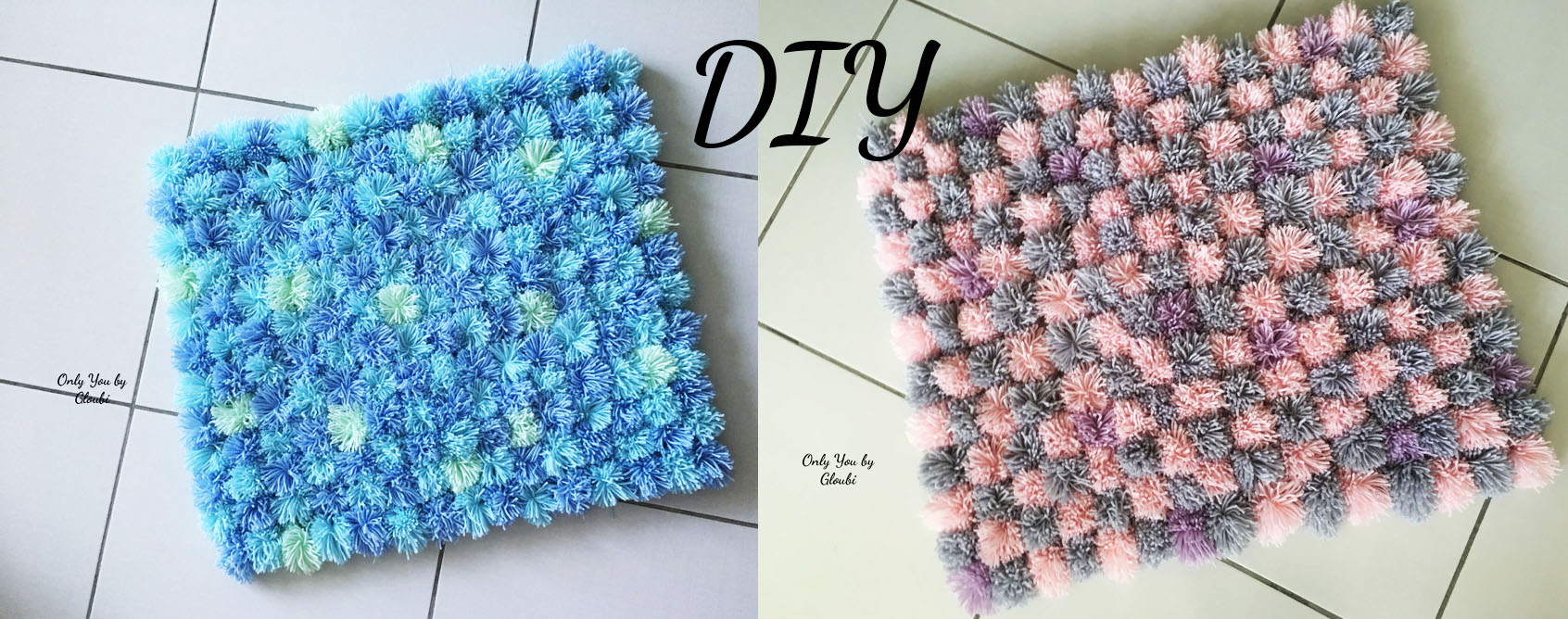 Diy Mon Tapis Pompons Only You By Gloubi