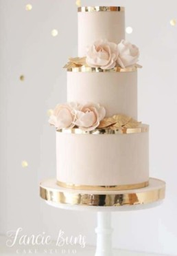 pink and gold cake1