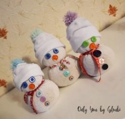 Mes Bonhommes de neige DIY Miss Gloubi11