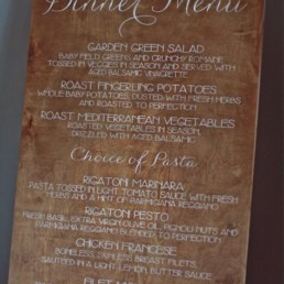 menu sur panneau location only you by gloubi