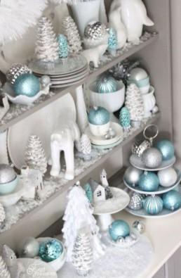 Christmas blue gold silver Miss Gloubi1