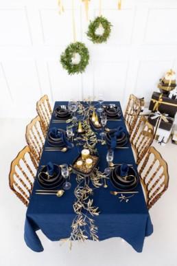 Christmas blue gold silver Miss Gloubi4