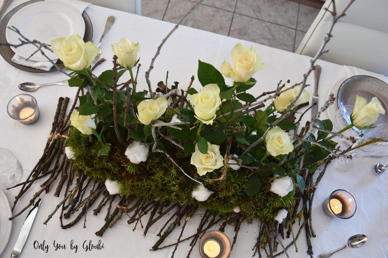 Table de Noel Nature DIY Miss Gloubi87