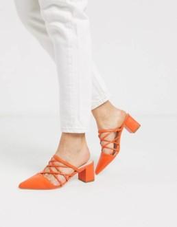 Mules-à-talon-orange