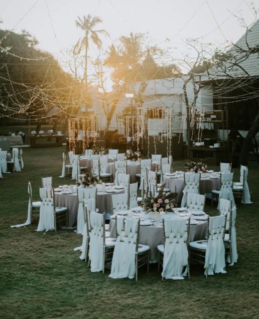 Outdoor reception wedding