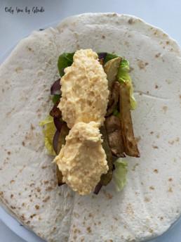 Tacos au poulet sauce formagère Miss Gloubi10