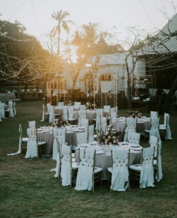 Outdoor reception wedding